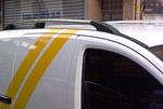 Рейлинги алюминиевые (концевики ABS пластик) для Peugeot Bipper 2008- (Can-Otomotive, PEBIABSS)
