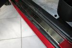 Накладки на внутренние пороги (нерж.) для Peugeot 307 5D 2001-2008 (Nata-Niko, P-PE12)