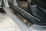 Накладки на внутренние пороги (нерж.) для Peugeot 407 5D 2004- (Nata-Niko, P-PE14)