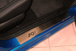 Накладки на внутренние пороги (нерж.) для Peugeot 207 5D 2006- (Nata-Niko, P-PE10)