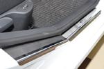 Накладки на внутренние пороги (нерж.) для Peugeot 308 5D 2007- (Nata-Niko, P-PE13)