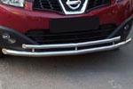 """Передняя защита """"Cityguard"""" Nissan Qashqai 2010- (UAtuning, NIS.0011)"""