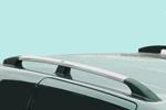 Рейлинги алюминиевые (концевики ABS пластик) для Peugeot Partner Teppe 2010- (Can-Otomotive, PETPABSS)