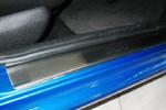 Накладки на внутренние пороги (нерж.) для Peugeot 206 5D 1998-/2009- (Nata-Niko, P-PE08)