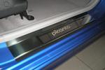 Накладки на внутренние пороги (нерж.) для Kia Picanto I 2004-2010 (Nata-Niko, P-KI07)