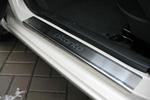 Накладки на внутренние пороги (нерж.) для Kia Picanto II 2011- (Nata-Niko, P-KI08)
