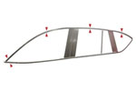 Комплект хром молдингов по периметру боковых стекол для Chevrolet Captiva 2011+ (Kindle, CC-D21-22)