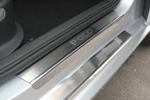 Накладки на внутренние пороги (нерж.) для Volkswagen Polo V 4-5D 2009- (Nata-Niko P-VW25)