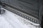 Пороги с листом d42 Mitsubishi Pajero Sport 2008- (Союз-96, MIPS.82.0780)