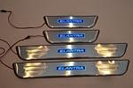 Накладки на пороги с подсветкой для Hyundai Elantra 2011+ (Kindle, HEL-P)