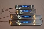 Накладки на пороги с подсветкой для Hyundai ix35 (Kindle, HYUN.IX35.PS01)