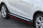 """Боковые пороги """"ACURA TYPE"""" для Hyundai Tucson IX-25 2014+ (Kindle, HX-S41)"""