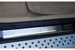 Накладки на внутренние пороги (нерж.) для BMW X5 (E70) (Nata-Niko, P-BM06)