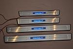 Накладки на пороги с подсветкой для Mazda 6 2003-2008 (Kindle, MAZ6.PS01)