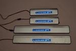 Накладки на пороги с подсветкой для Mitsubishi Lancer X 2007+ (Kindle, MLA-P)