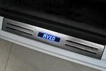 Накладки на пороги с подсветкой для Chevrolet Aveo 2012- (Kindle, СH.AV.PS01)