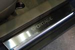 Накладки на внутренние пороги (нерж.) для Kia Sportage III 2010- (Nata-Niko, P-KI16)
