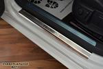 Накладки на внутренние пороги (нерж.) для Mercedes Sprinter III 2006- (Nata-Niko, P-ME06)