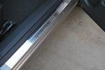 Накладки на внутренние пороги (нерж.) для Nissan Qashqai 2007- (Nata-Niko, P-NI18)