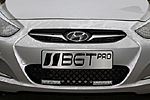 Решетка бампера для Hyundai Accent/Solaris (с DRL) (BGT-PRO, BGT-PRO-RB-HYUN-AC-DRL)
