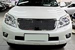 Решетка радиатора под камеру (хром) «Bentley Style» для Toyota Prado FJ150  (заменяемая) (BGT-PRO, BGT-PRO-RRBSC-TOYPR150)