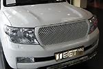 Решетка радиатора «Bentley Style» без логотипа (заменяемая) для Toyota LC-200 (BGT-PRO, BGT-PRO-RRZ-TOYLC200)