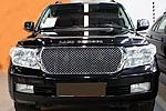 Решетка радиатора хром «Bentley Style» без логотипа (заменяемая) для Toyota LC-200 (BGT-PRO, BGT-PRO-RRZHR-TOYLC200)
