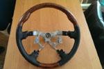 Анатомический руль (темное дерево) для Toyota Land Cruiser 100 / Prado 120 / Lexus GX 470 (S-LINE, TLC100.120.STW02)