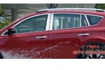Комплект хром молдингов по периметру боковых стекол для Toyota RAV4 2013+ (Kindle, RV-D37-39)
