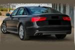 Диффузор на задний бампер (S-Line) для Audi A6 2012-2014 (S-line, SA6BA)