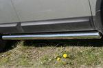 Пороги труба Nissan Qashqai 2007 d 76 (компл 2шт) (Союз-96, NQSH.80.0453)