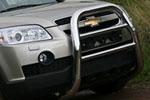 Решетка передняя Chevrolet Captiva 2006- d76 мини высокая (Союз-96, CCAP.55.0488)