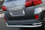 Защита задняя двойная d76/42 Lexus LX570 (Союз-96, LX57.75.0633)