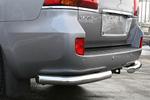 """Защита задняя """"уголки"""" одинарные d76 Lexus LX570 (Союз-96, LX57.76.0631)"""