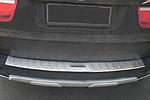 Накладка на задний бампер BMW X5 (E70) 2010-2014 (Kindle, X5-P11)