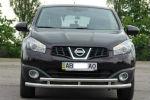 Защита переднего бампера (D60) для Nissan Qashqai 2010-2014 (ST-LINE, ST.NQ1014.ST018)