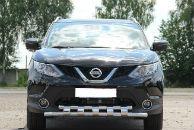 Защита переднего бампера (D60) для Nissan Qashqai 2015+ (ST-LINE, ST.NQ15.ST015/d60)