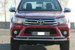 Защита переднего бампера (D60) для Toyota Hilux 2015+ (ST-LINE, ST.FK13.ST018)