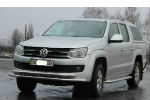 Защита переднего бампера (D60) для Volkswagen Amarok 2010+ (ST-LINE, ST.VWA10.ST018-2)