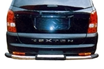 Защита заднего бампера Ssang Yong Rexton 2001-2012 (Power Ful, SY-B003)