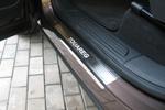 Накладки на внутренние пороги (нерж.) для Volkswagen Touareg II 2010- (Nata-Niko, P-VW31)