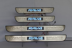 Накладки на пороги с подсветкой Toyota RAV4 2006- (JMT, TOY.RV4.LED01)