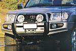 Передний бампер Toyota LC 100 Series с дугой Sahara COIL FRONT NO FOG (ARB, 3913050)