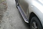 Боковые пороги с листом Toyota Highlander 07- (UAtuning, TOY.HLR.C202)