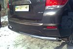 Защита заднего бампера Toyota Highlander 07- (UAtuning, TOY.HLR.C303)