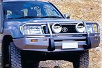 Передний бампер Toyota LC 100 Series с дугой Deluxe (NOT IFS) INC SRS под лебёдку (ARB, 3413010)