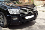 Юбка переднего бампера Toyota LC 100 03-06 10mm (AD-Tuning, LC-100-FRTS)