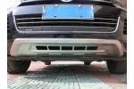Накладки на передний бампер Volkswagen Touareg 2010+ (Kindle, TR-B15)