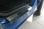 Накладки на внутренние пороги (нерж.) для Volkswagen Transporter T5/Multivan T5 2003- (Nata-Niko, P-VW37)