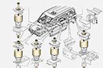 Комплекты проставок боди-лифт Н60 УАЗ 3163 (ТоргСервис, h60bl-UAZ 3163)